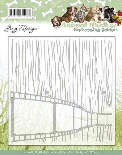 Embossing Folder - Amy Design - Animal Medley