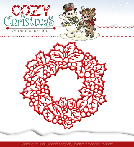 Die - Yvonne Creations - Cozy Christmas - Wreath