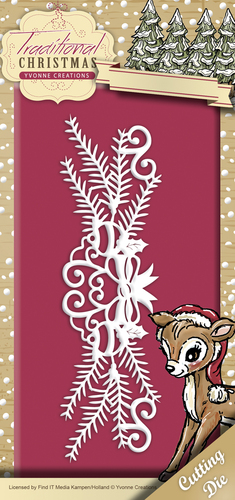 Die - Yvonne Creations - Traditional Christmas - Holiday Garland