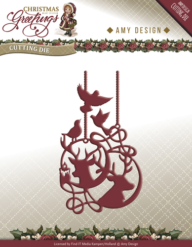 Die - Amy Design - Christmas Greetings - Reindeer Ornament