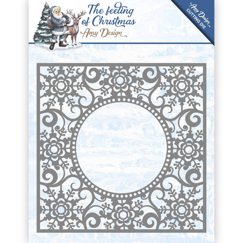 Die - Amy Design - The feeling of Christmas - Ice chyristal frame