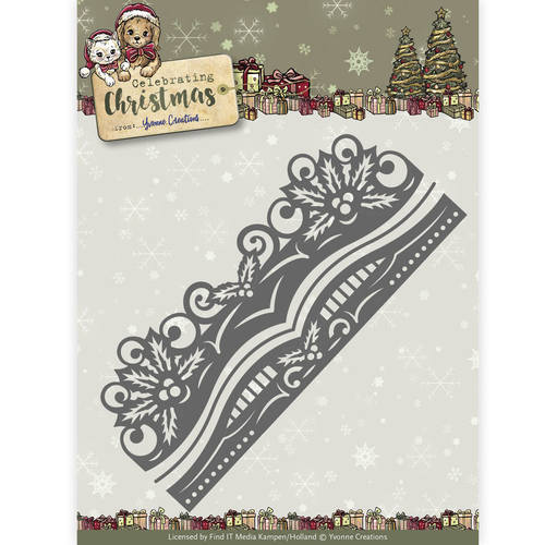 Die - Yvonne Creations - Celebrating Christmas- Holly Border