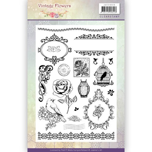 Clearstamp - Jeanine`s Art - Vintage Flowers