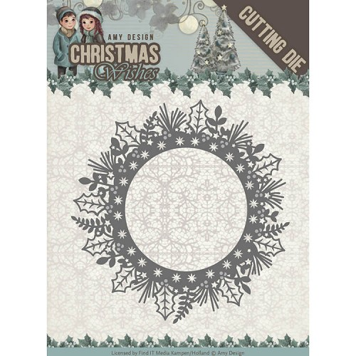 Dies - Amy Design - Christmas Wishes - Holly Wreath
