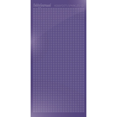 Hobbydots sticker Sparkles 01 Mirror Purple