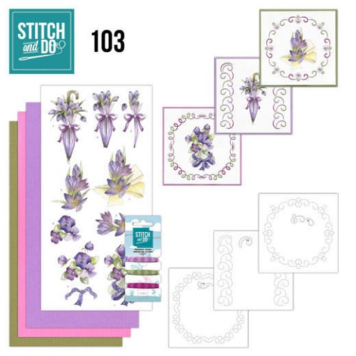 Stitch and Do 103 Flowers in Purple
