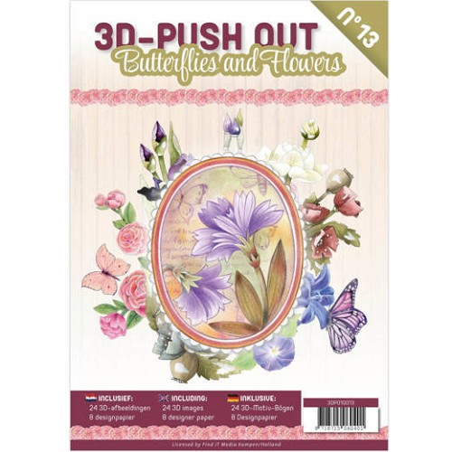 3D Pushout Book 13 Butterflies and Flowers