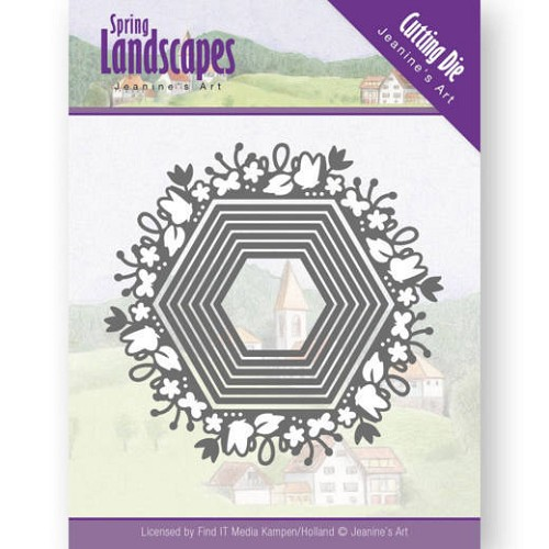 Dies - Jeanine`s Art - Spring Landscapes - Spring Hexagon