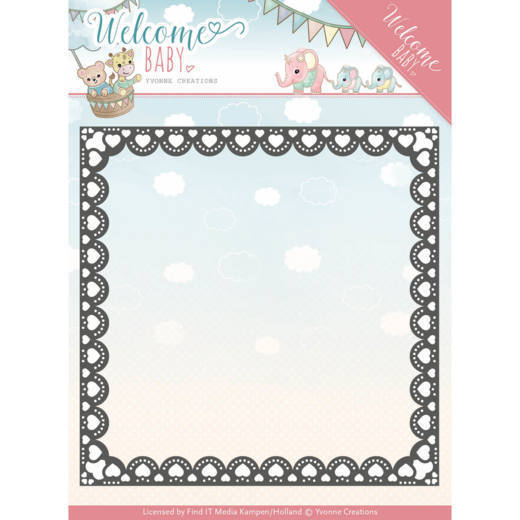 Dies - Yvonne Creations- Welcome Baby - Heart Frame