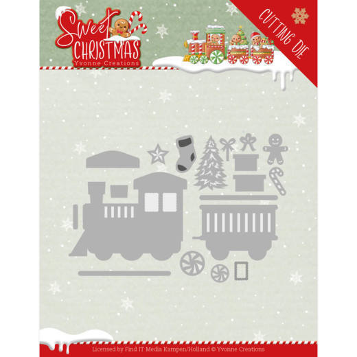 Dies - Yvonne Creations - Sweet Christmas - Sweet Christmas Train