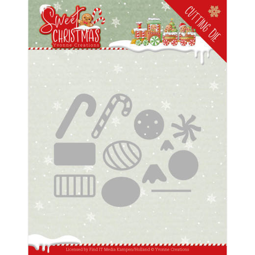 Dies - Yvonne Creations - Sweet Christmas - Sweet Christmas Candy