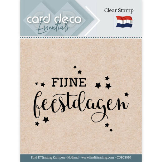 Card Deco Essentials - Clear Stamps - Fijne Feestdagen