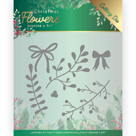 Dies - Jeanines Art  Christmas Flowers - Mistletoe