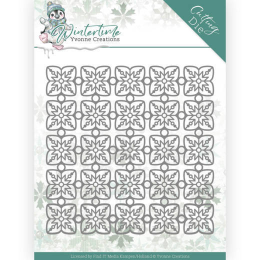 Dies - Yvonne Creations - Winter Time - Snowflake Pattern