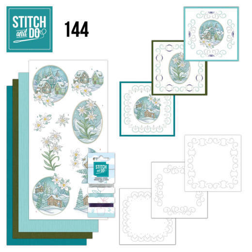 Stitch and Do 144 - Yvonne Creations - Wintertime - Edelweis ****Let op, zelfde patroon als 135****