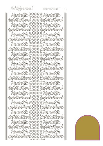 Hobbydots sticker mirror goud HG