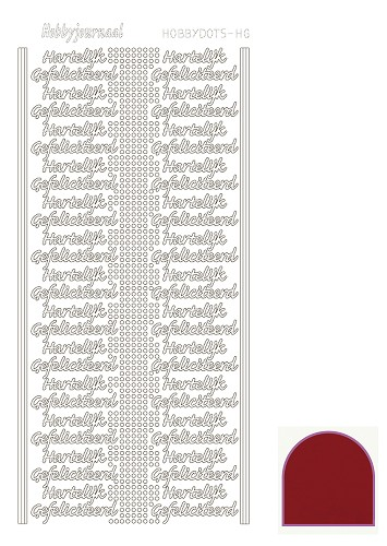 Hobbydots sticker mirror red HG