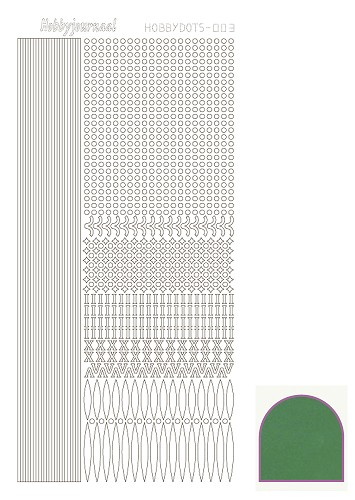 Hobbydots sticker mirror green