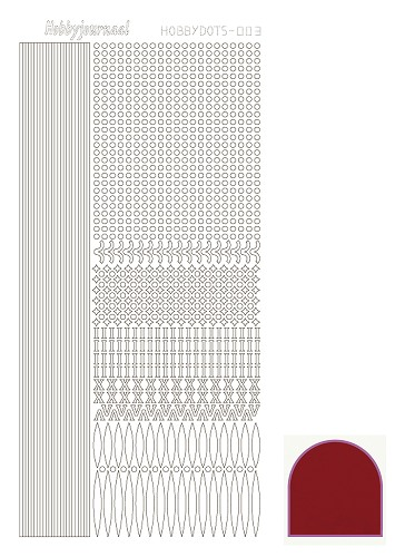 Hobbydots sticker mirror red