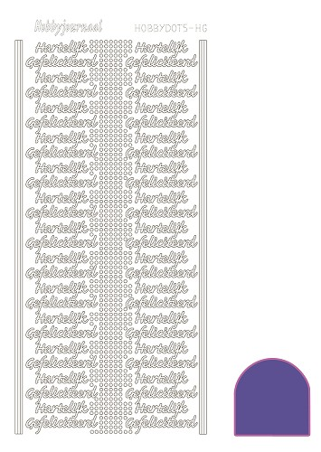 Hobbydots sticker mirror paars HG